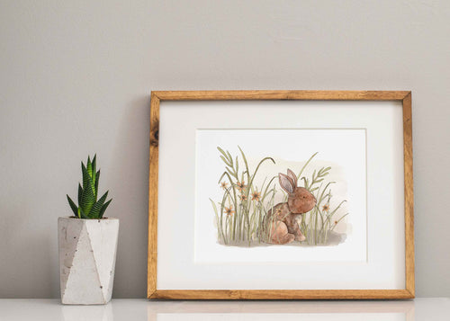 Gentle Rabbit Print