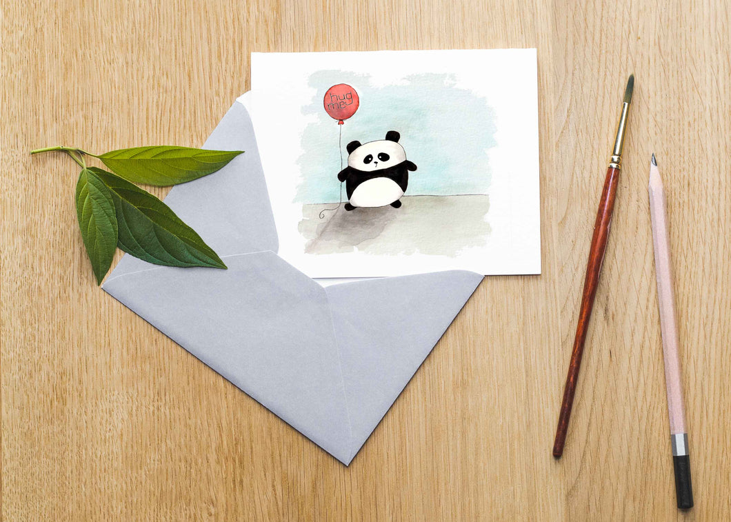 Panda + Balloon Card