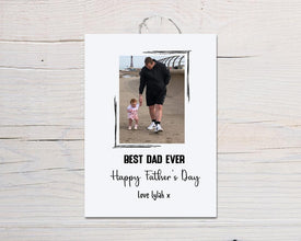 Fathers Day Card | Personalised Best Dad Ever | Photo Card - Dinky Designs