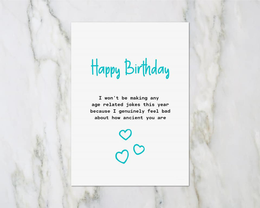 Birthday Card | How Ancient You Are | Funny Card | Joke Card