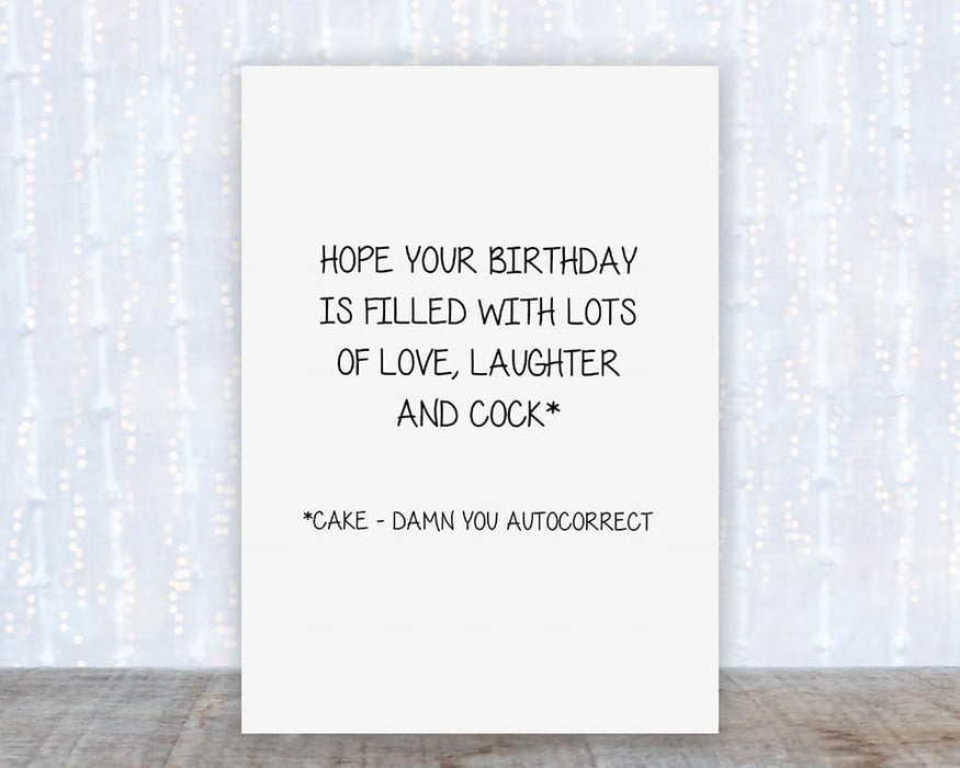 Hope your Birthday is filled with lots of love Card