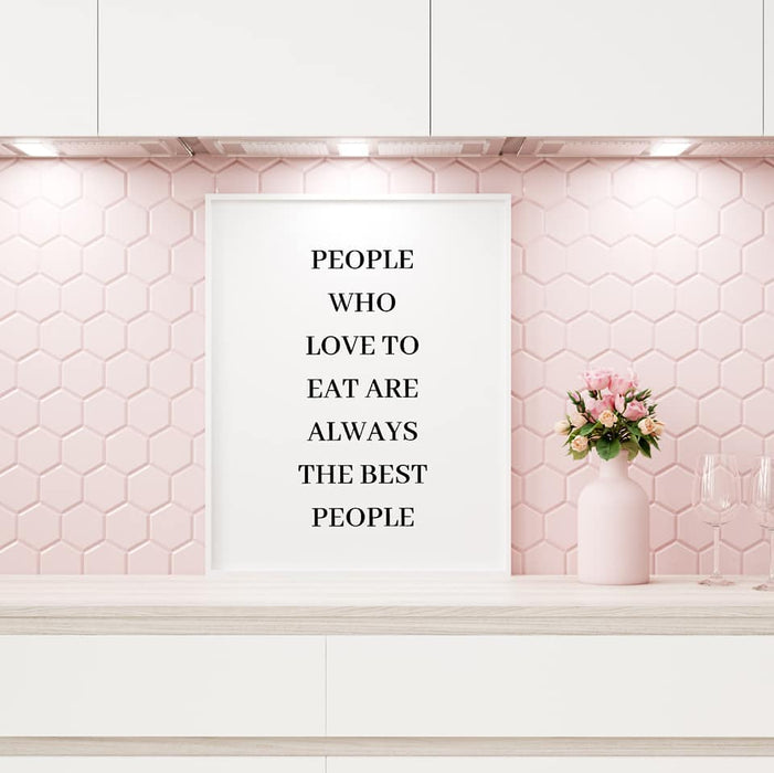 Kitchen Print | Love To Eat | Quote Print