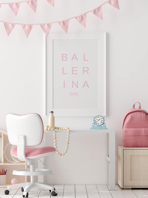 Quote Print | Ballerina Girl | Bedroom Print | Girly Print | Girls Bedroom Print