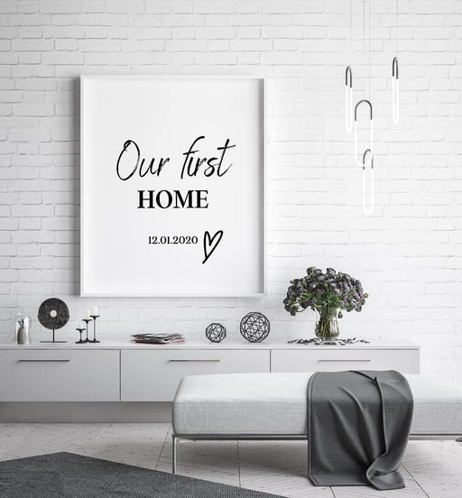 Our first home personalised Print
