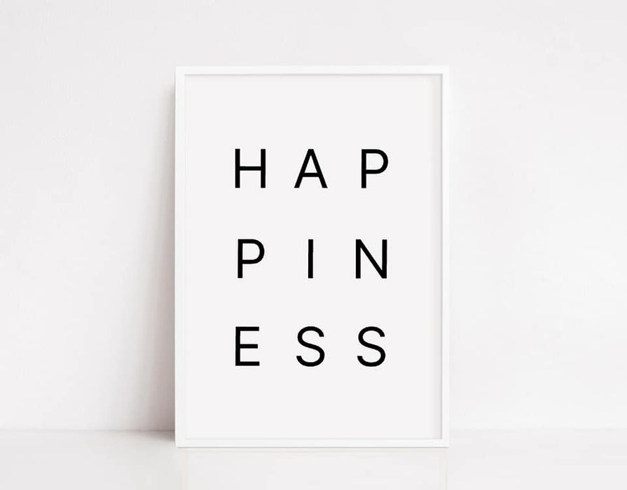 Quote Print | Happiness | Motivational Print | Positive Print