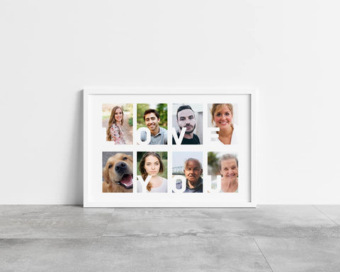 Family Print | Love You Collage Print | Personalised Print