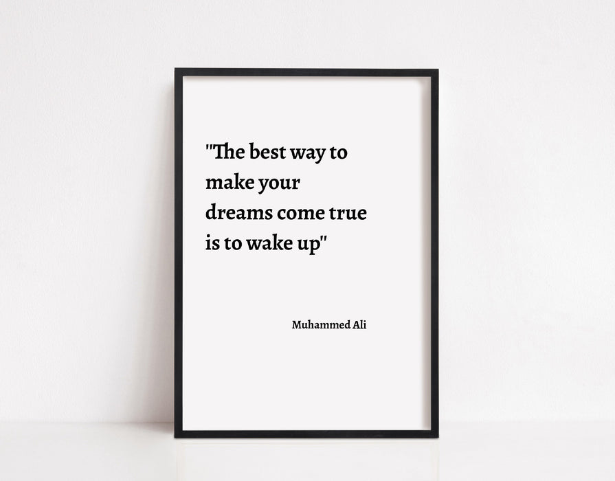 Quote Print | Muhammed Ali Quote | Inspirational Print | Positive Print | Motivational Print