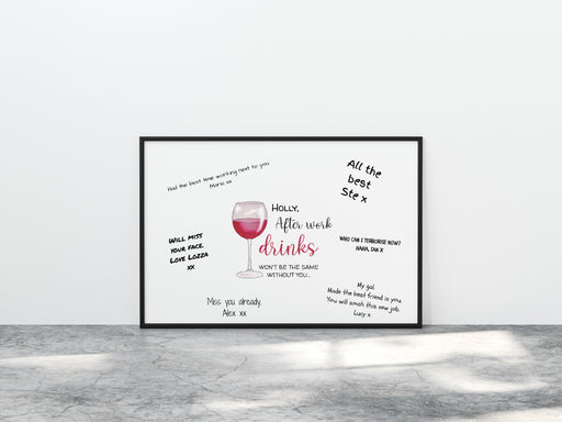 After Work Drinks Won't Be The Same Without You Print | Office Print | Work Print | Leaving Gift