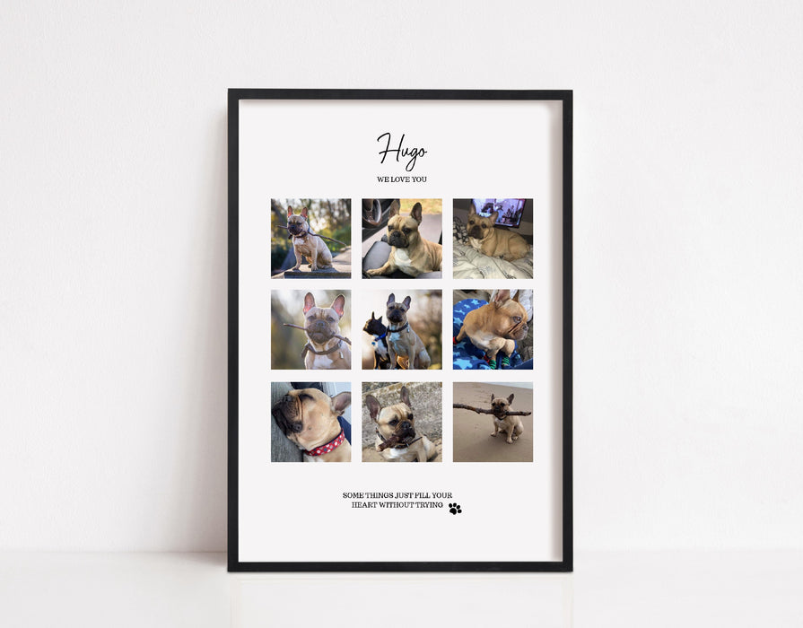 Personalised pet collage Print