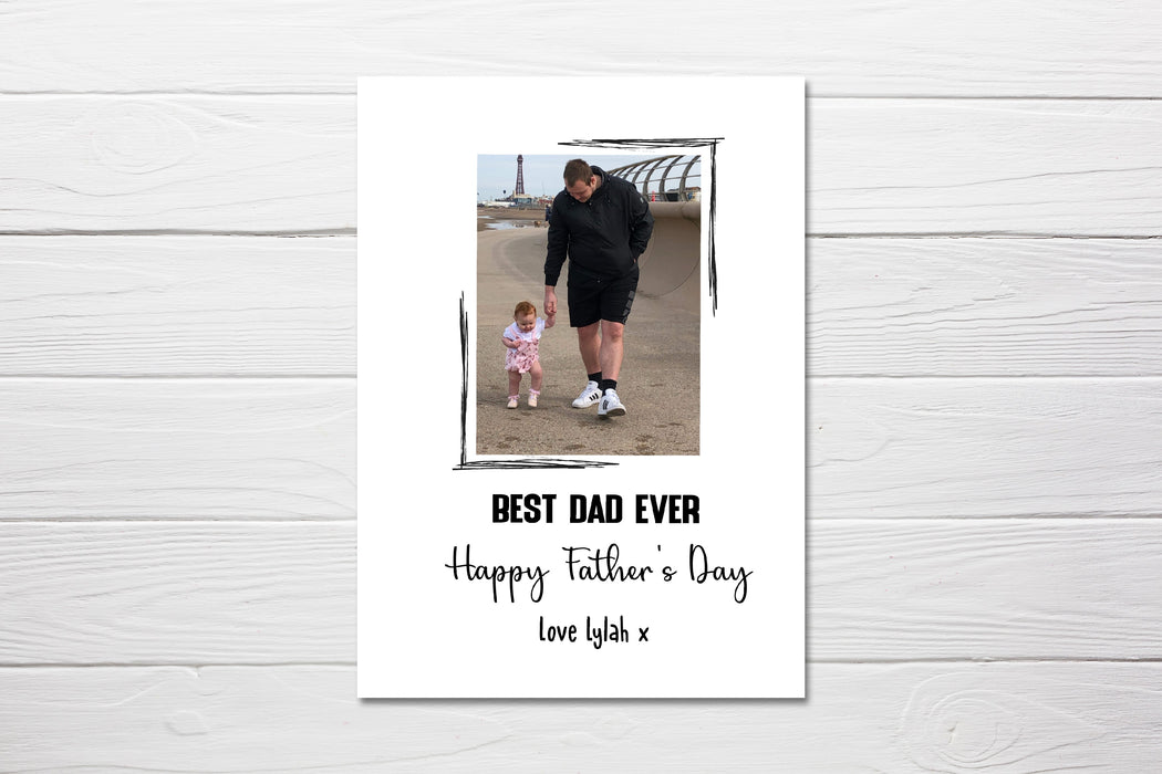 Fathers Day Card | Personalised Best Dad Ever | Photo Card