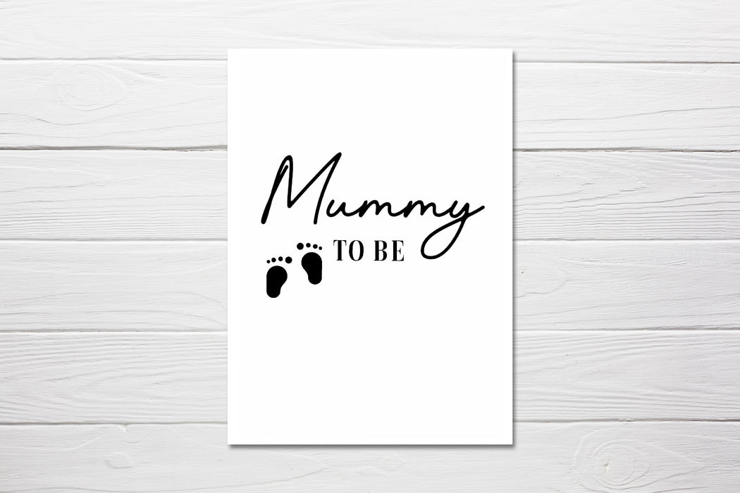 Baby Shower Card | Mummy To Be | Congratulations Card