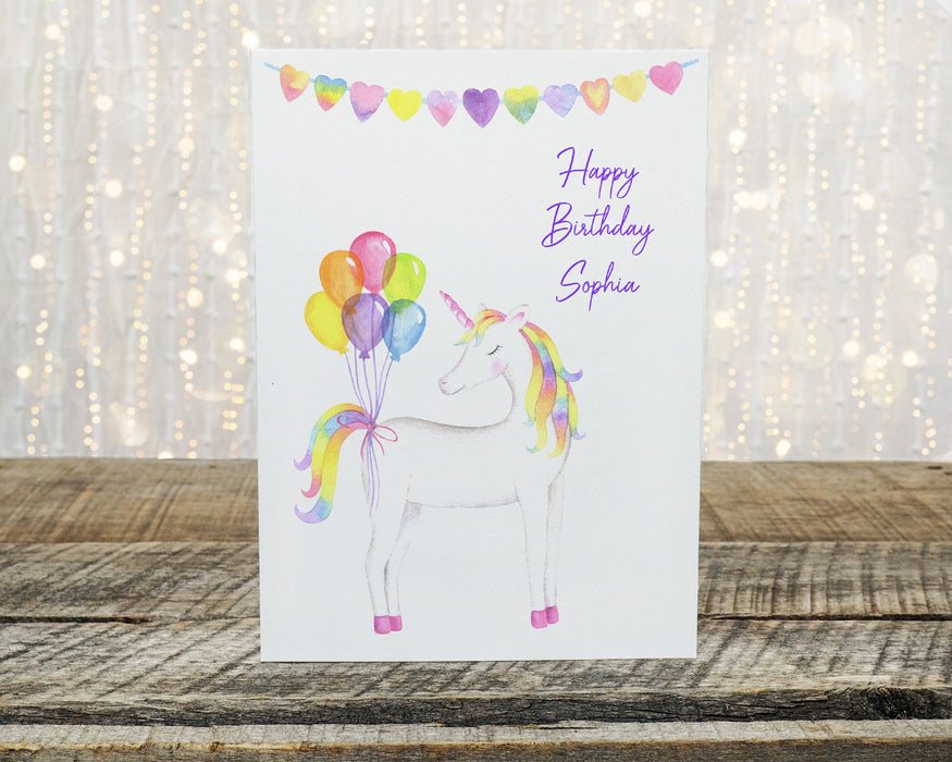 Birthday Card | Personalised Unicorn Birthday Card
