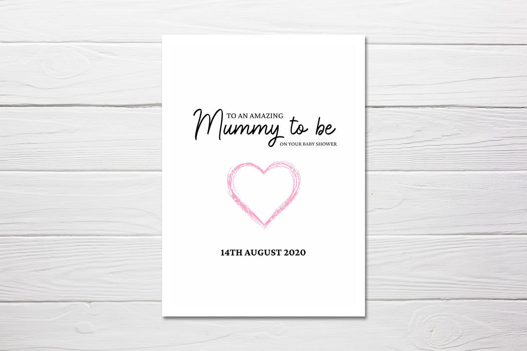 Baby Shower Card | An Amazing Mummy To Be, On Your Baby Shower Card | Mummy To Be Card | Personalised Mummy Card