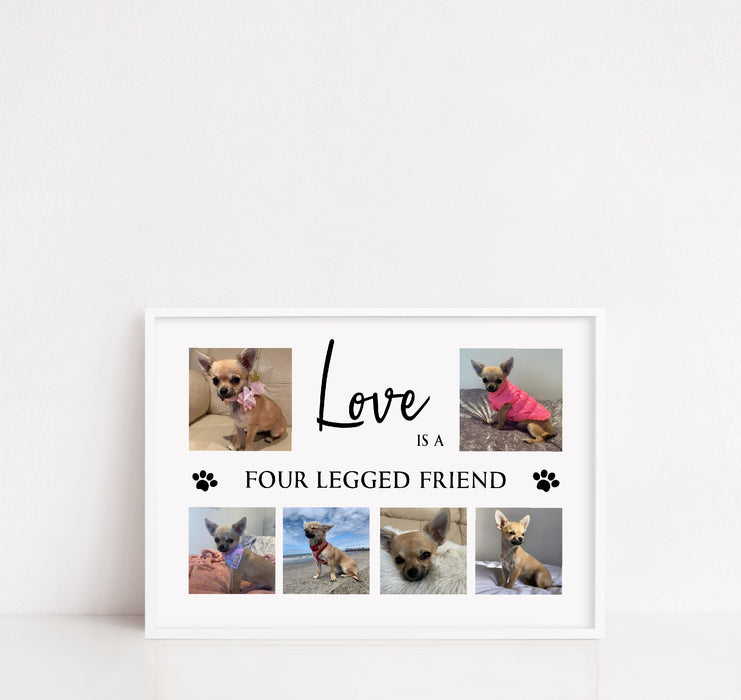Pet Print | Love Is A Four Legged Friend | Family Print | Pet Gift
