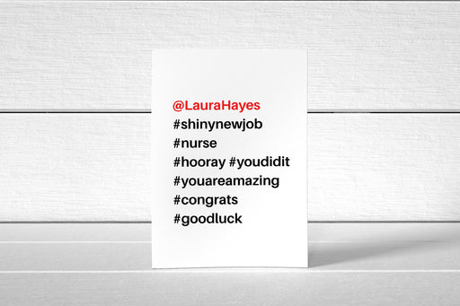 New Job Card | Hashtag | Congratulations Card