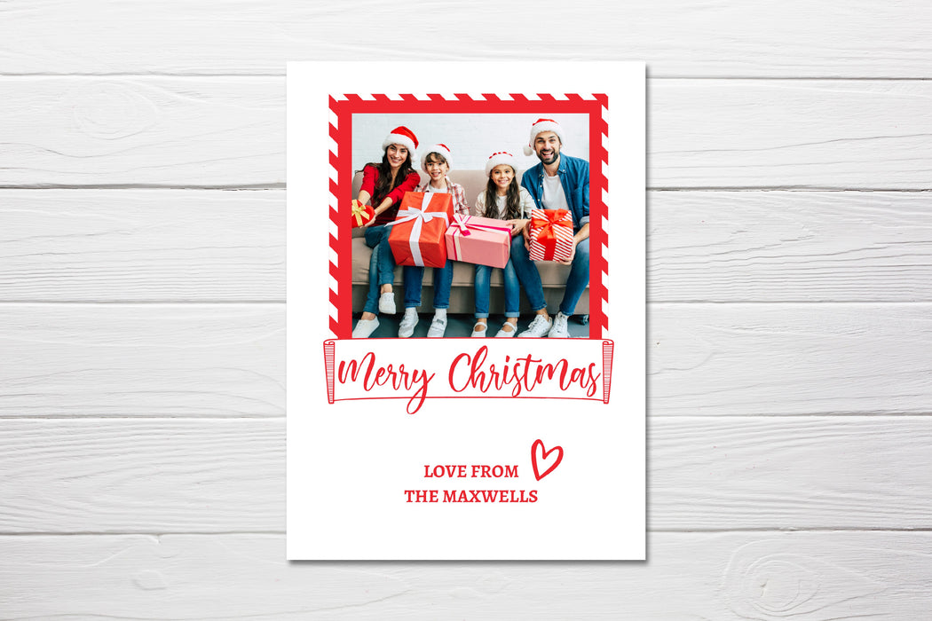 Christmas Card | Family Photo Image | Personalised Card