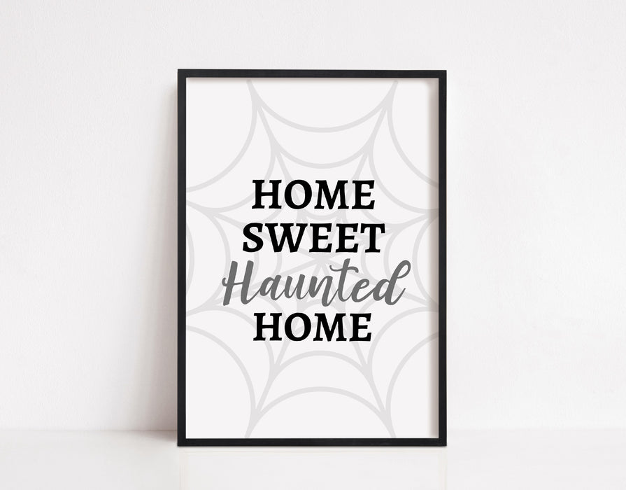 Halloween Print | Home Sweet Haunted Home | Halloween Décor