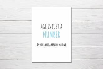 Birthday Card | Age Is Just A Number | Funny Cards