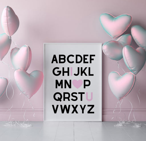 Alphabet Print | I Love You Print | Quote Prints | I Love You Gift