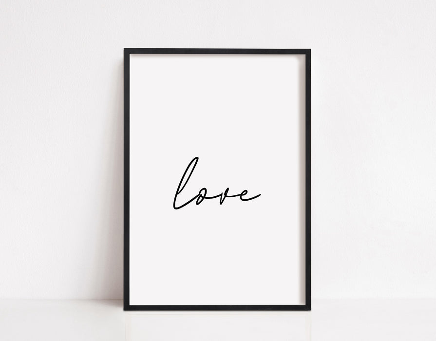Simple Love Print | Love Quote