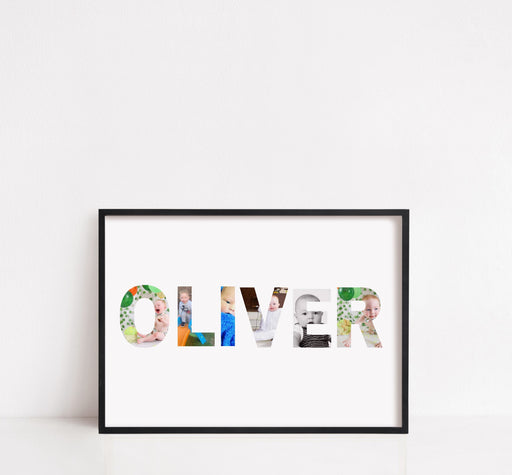 Nursery Print | Personalised Name Image Print | Children's Print