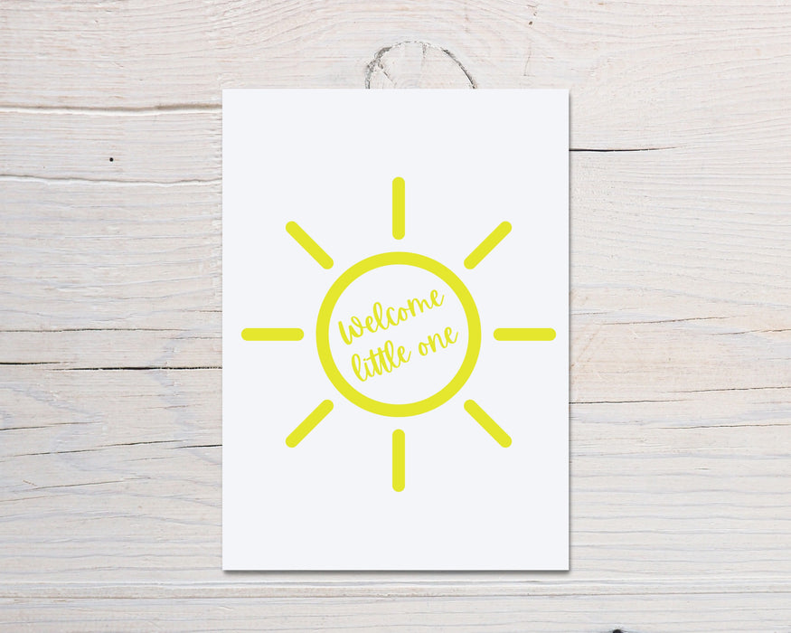 New Baby Card | Hello Little One | Newborn Baby Card