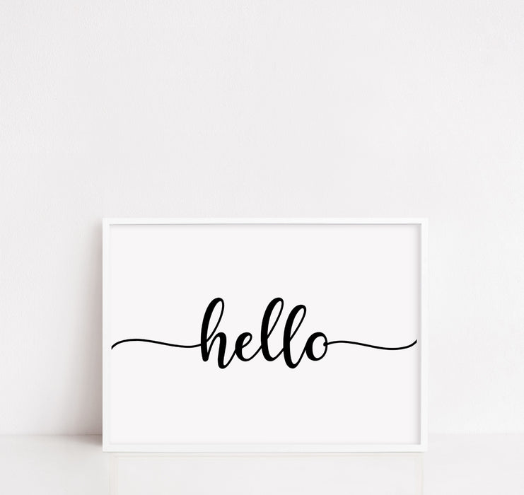 Household Print | Hello | Quote Print | Welcome Print