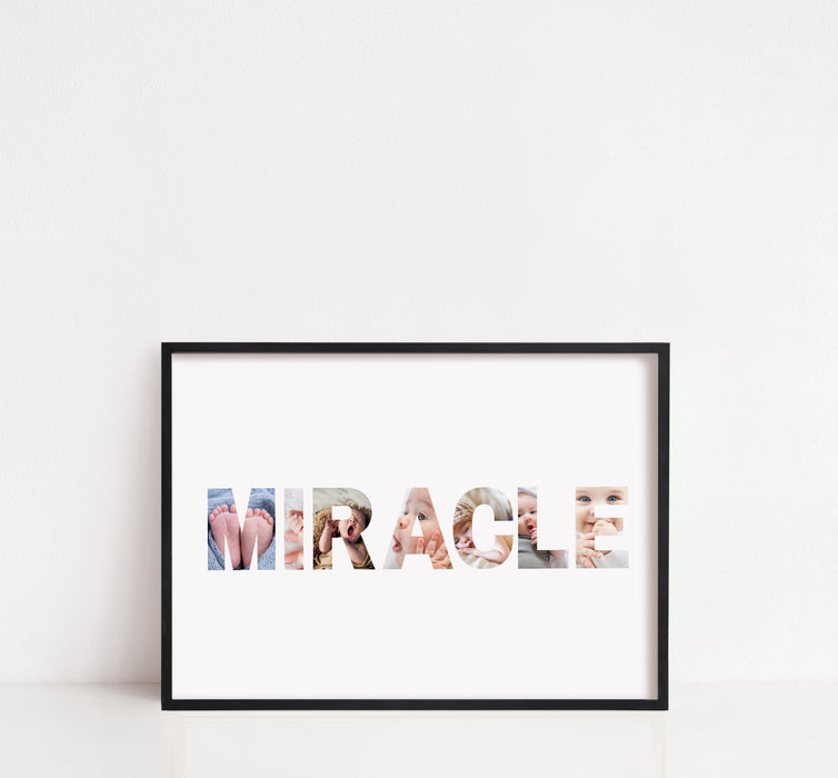 Newborn Baby Print | Miracle Image Print | New Baby Gift | Personalised Baby Print