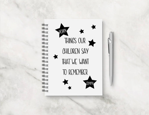 Memory Notebook | Things Our Children Say That We Want To Remember | Funny Planner | Funny Notebook | Children's Notebook