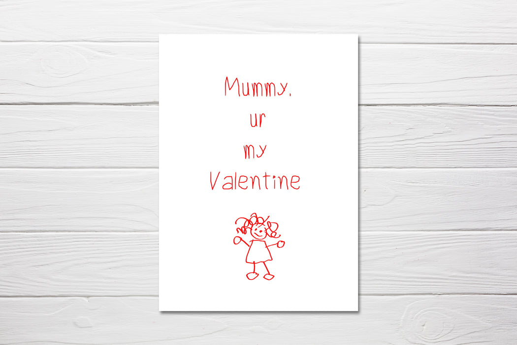 Valentines Card | Mummy, Ur My Valentine | Cute Card | Mummy Valentine Card