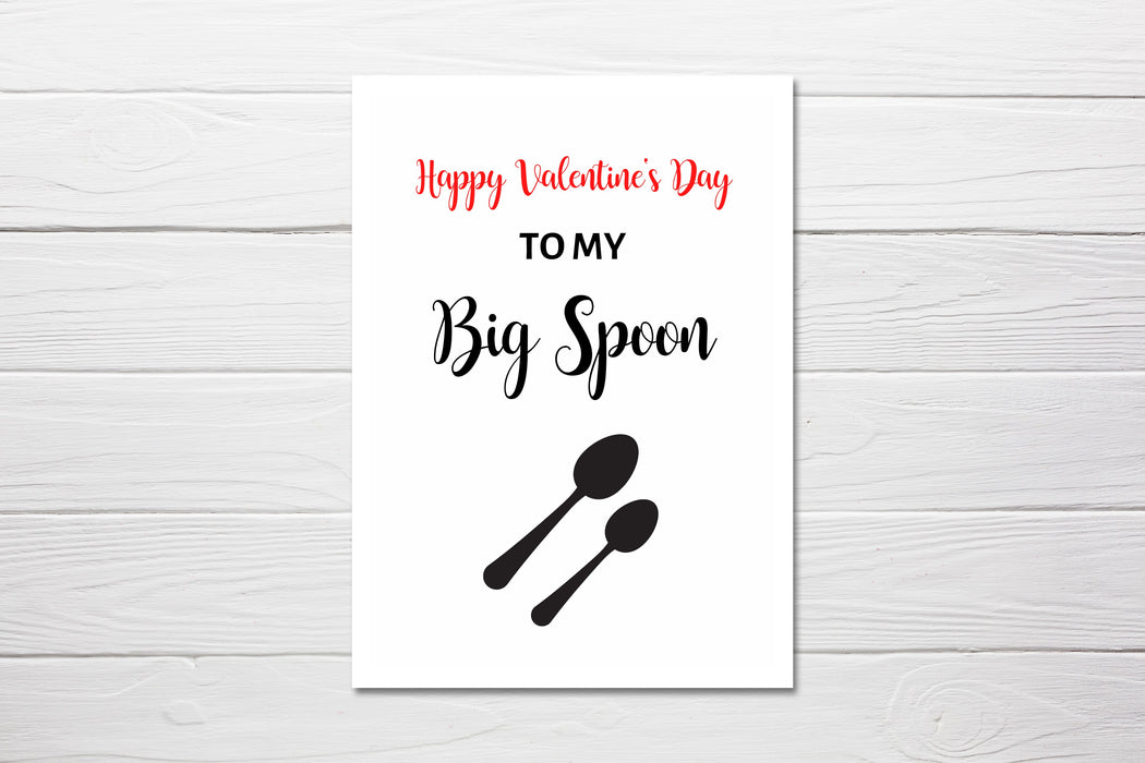 Valentines Card | To My Big Spoon | Funny Card | Joke Card