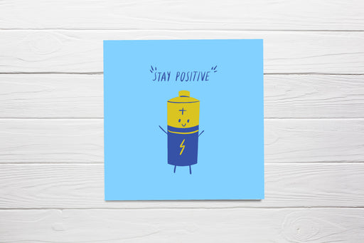Thinking Of You Card | Stay Positive | Cute Card