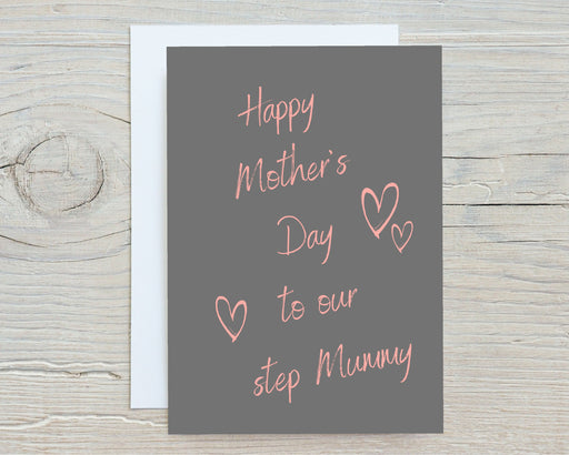 Mothers Day Card | To Our Step Mummy | Cute Card | Happy Mother's Day