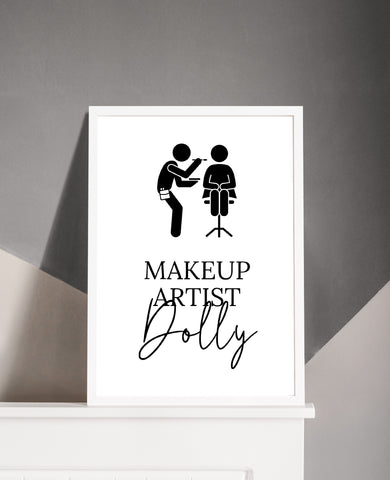 Personalised Custom Salon Print | Job Role | Makeup Artist | Makeup Print | Makeup Studio Print