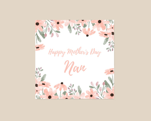 Mother's Day Card | Happy Mother's Day Nan | Floral Card | Cute Card