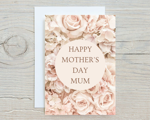 Mothers Day Card | Happy Mother's Day Mum | Floral Card