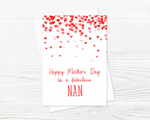 Mothers Day Card | Happy Mother's Day To A Fabulous Nan | Cute Card