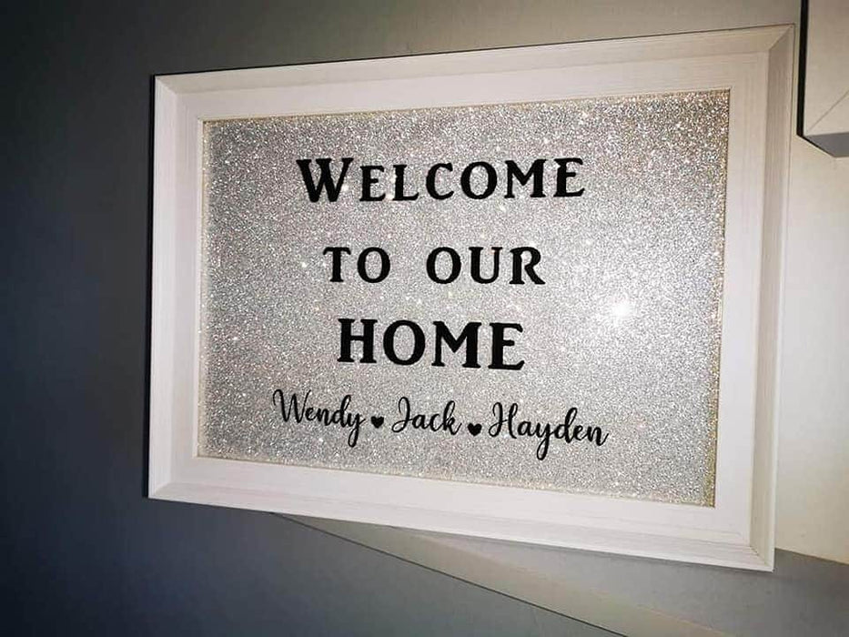 Welcome To Our Home Frame | Welcome Gift | New House Gift | Housewarming Gift