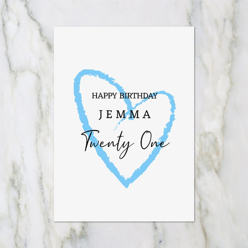 Birthday Card | Happy Birthday Heart Design