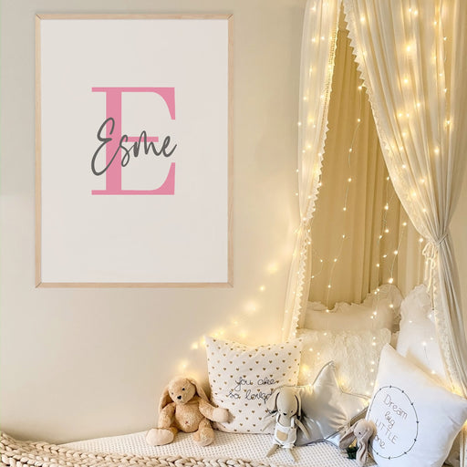 Name Initial Print | Personalised Print | Bedroom Print