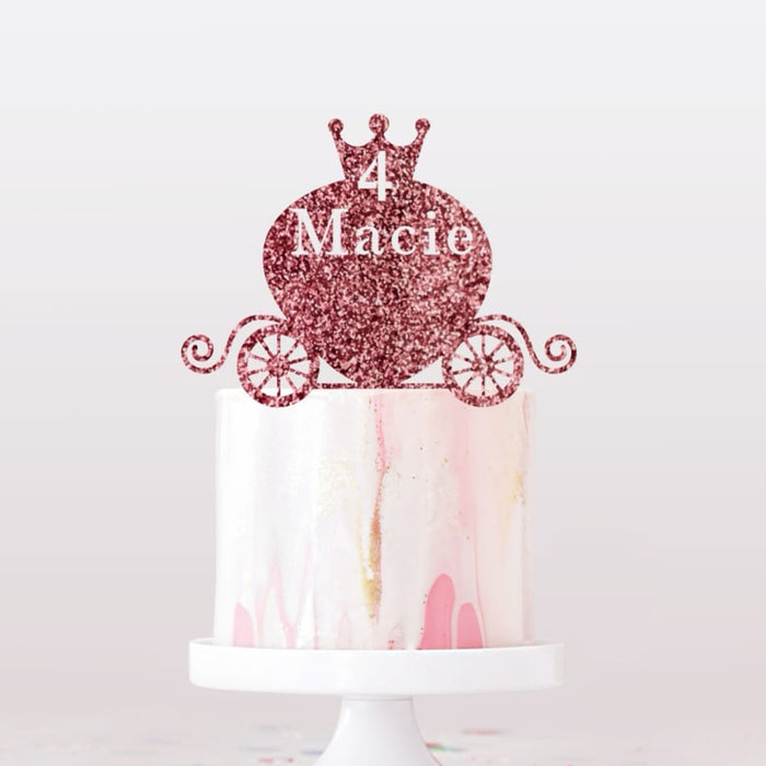 Personalised Cake Topper | Princess Carriage Cake Topper