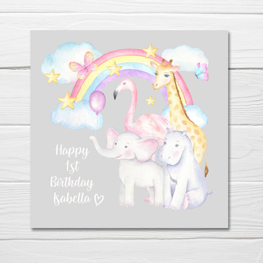 Animal Birthday Card Design | Personalised Animal Birthday Card | Children's Birthday Card