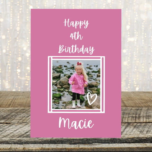Image Birthday Card | Personalised Birthday Card | Pink Card