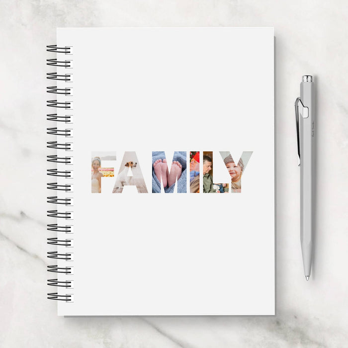 Family Notebook | Personalised Family Image Notebook | Family Planner