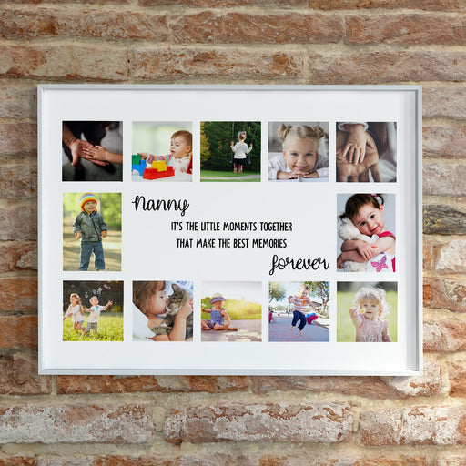 Nanny Print | Personalised Nanny Gift | Grandchildren Photo Print