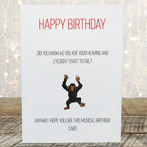 Birthday Card | Joke Card | Musical Birthday Card | Funny Card