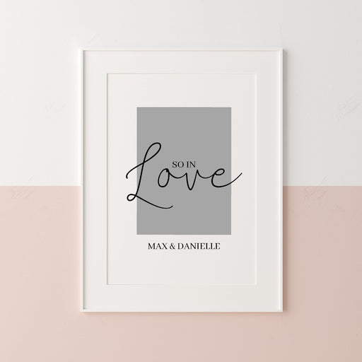 Couples Print | So In Love | Love Print | Personalised Name Print