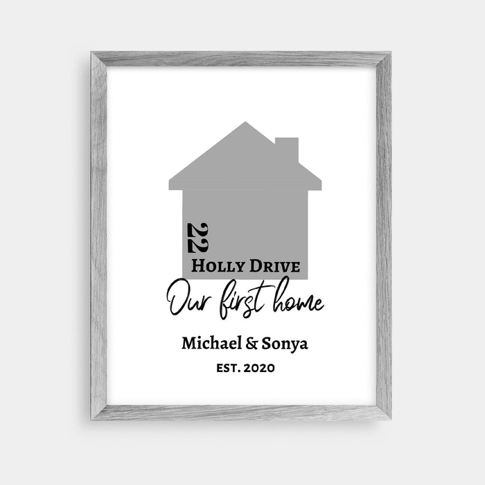 Home Print | Our First Home | Personalised Print