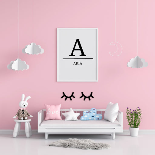 Nursery Print | Personalised Initial/Name Print | Children's Bedroom Print