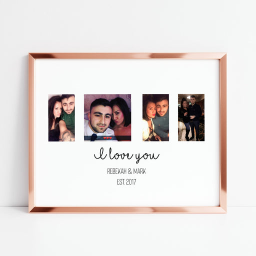 Couples Print | Personalised Photo Print | I Love You Print | Anniversary Print | Wedding Print | Valentines Day Print
